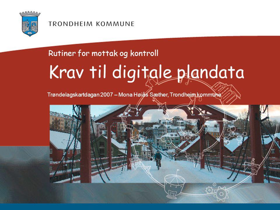 Krav til digitale plandata