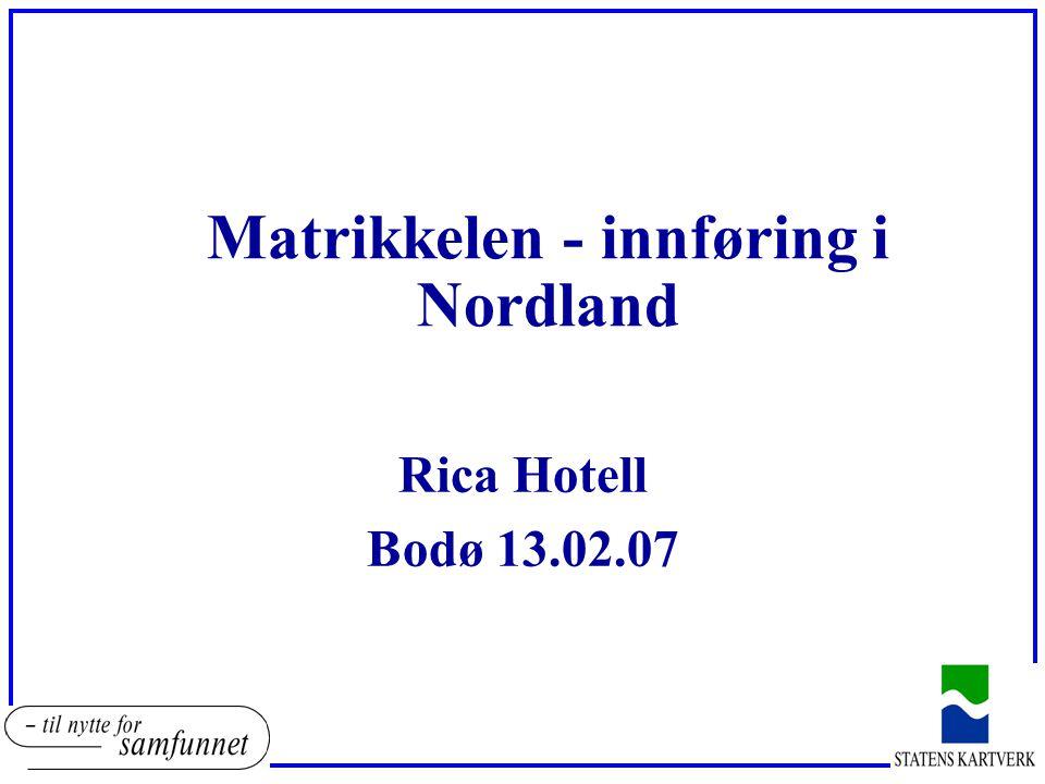 Matrikkelen - innføring i Nordland