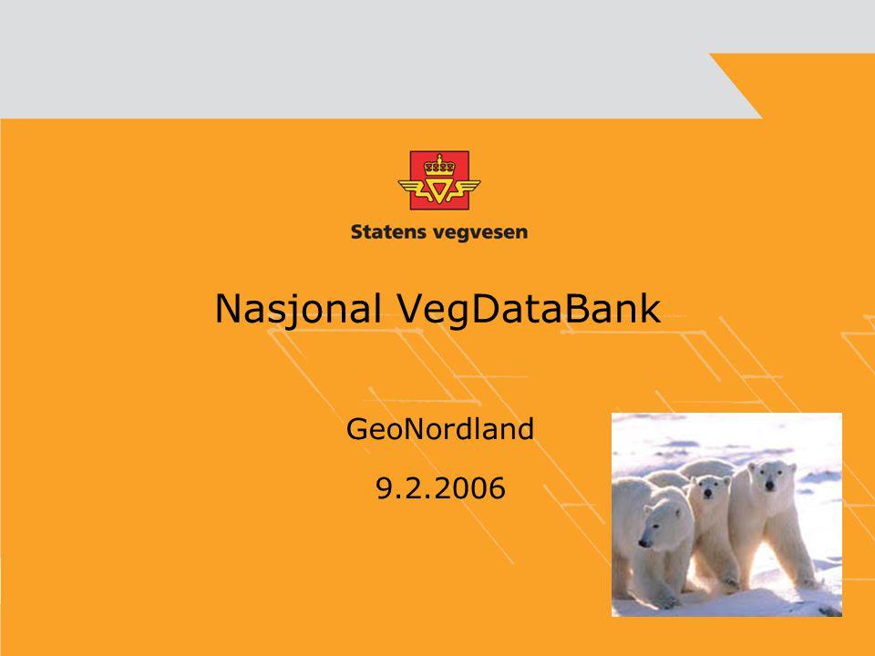 Nasjonal VegDataBank GeoNordland 9.2.2006