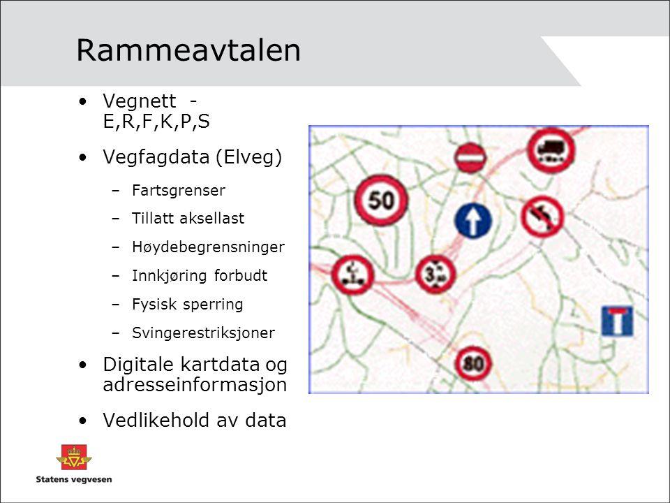 Rammeavtalen Vegnett - E,R,F,K,P,S Vegfagdata (Elveg)