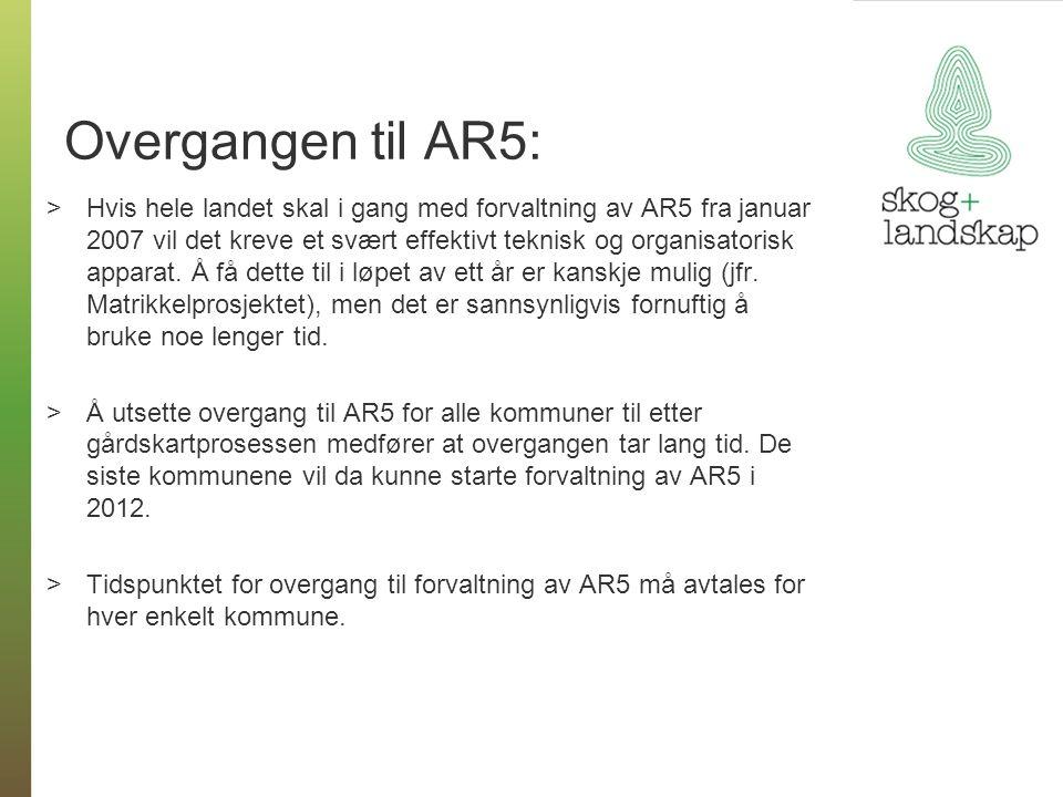 Overgangen til AR5: