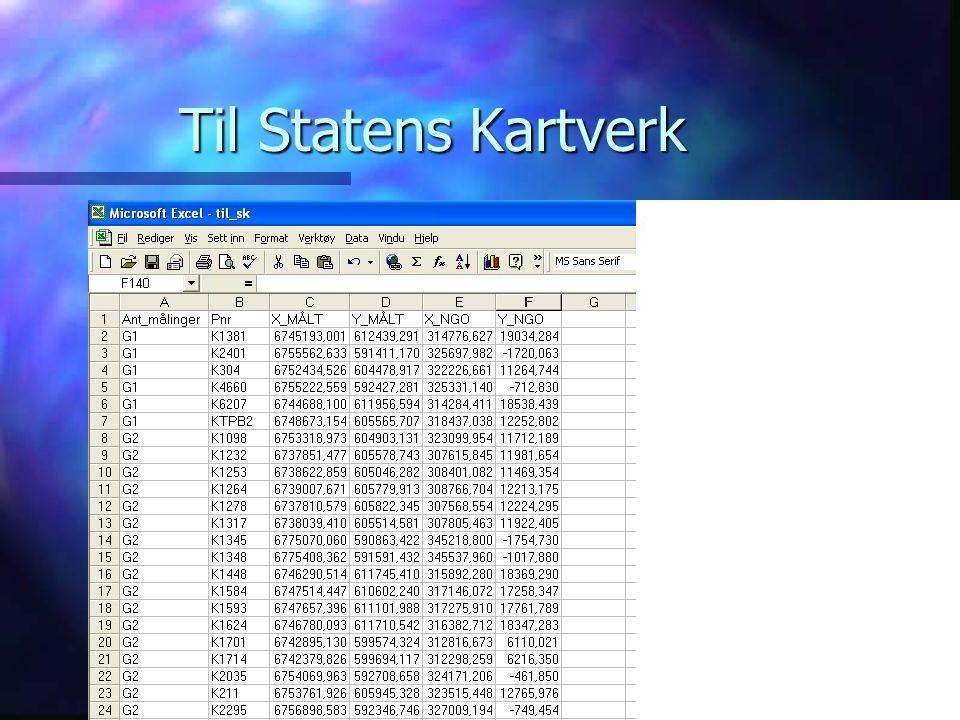 Til Statens Kartverk RINGSAKER KOMMUNE
