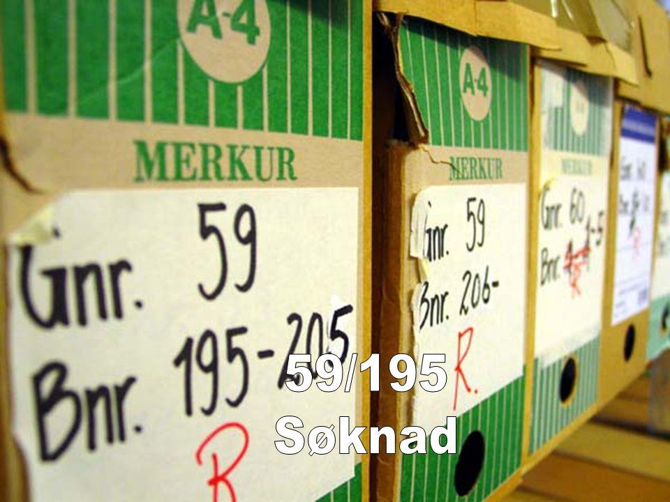 59/195 Søknad