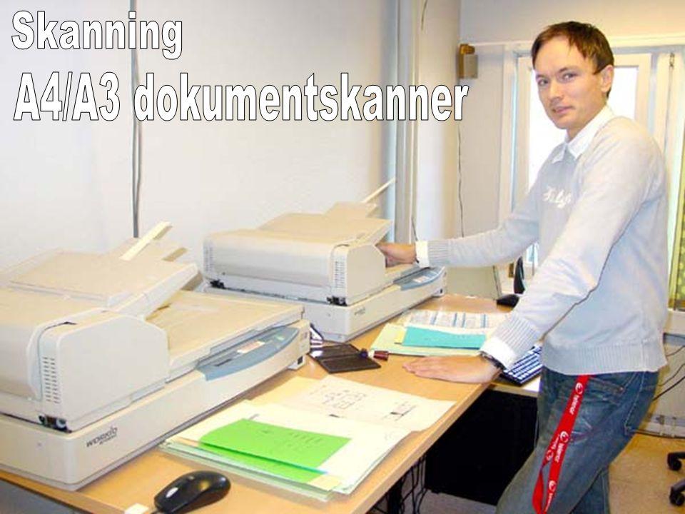 Skanning A4/A3 dokumentskanner