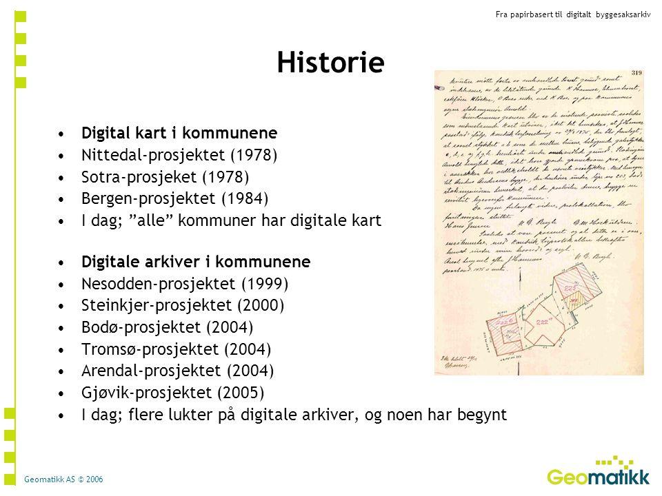 Historie Digital kart i kommunene Nittedal-prosjektet (1978)