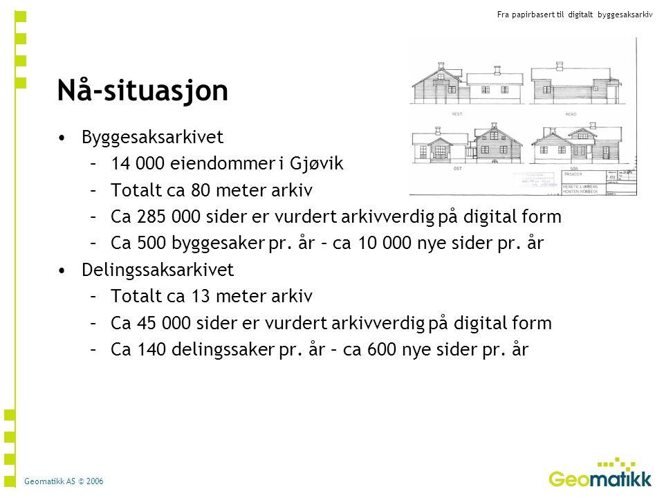 Nå-situasjon Byggesaksarkivet 14 000 eiendommer i Gjøvik