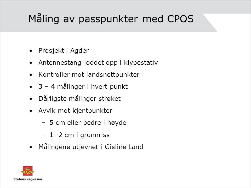 Måling av passpunkter med CPOS