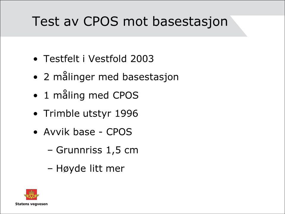 Test av CPOS mot basestasjon