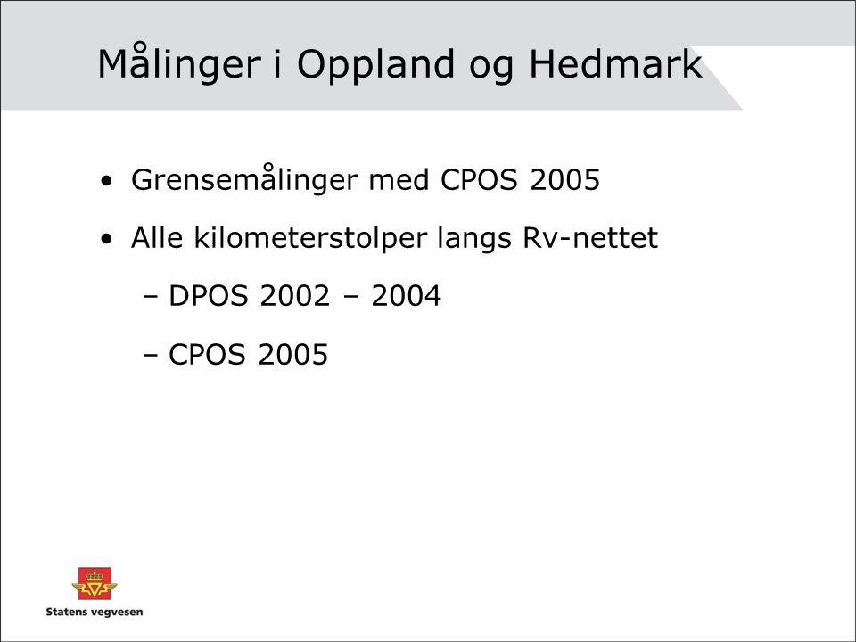 Målinger i Oppland og Hedmark