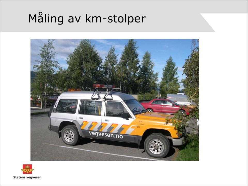 Måling av km-stolper