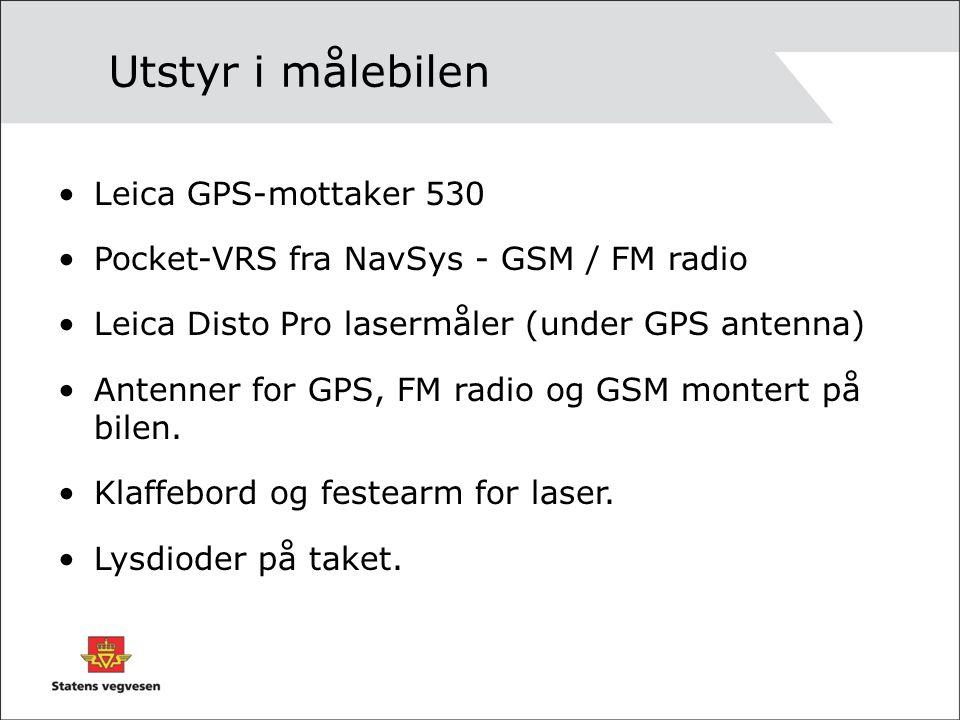 Utstyr i målebilen Leica GPS-mottaker 530