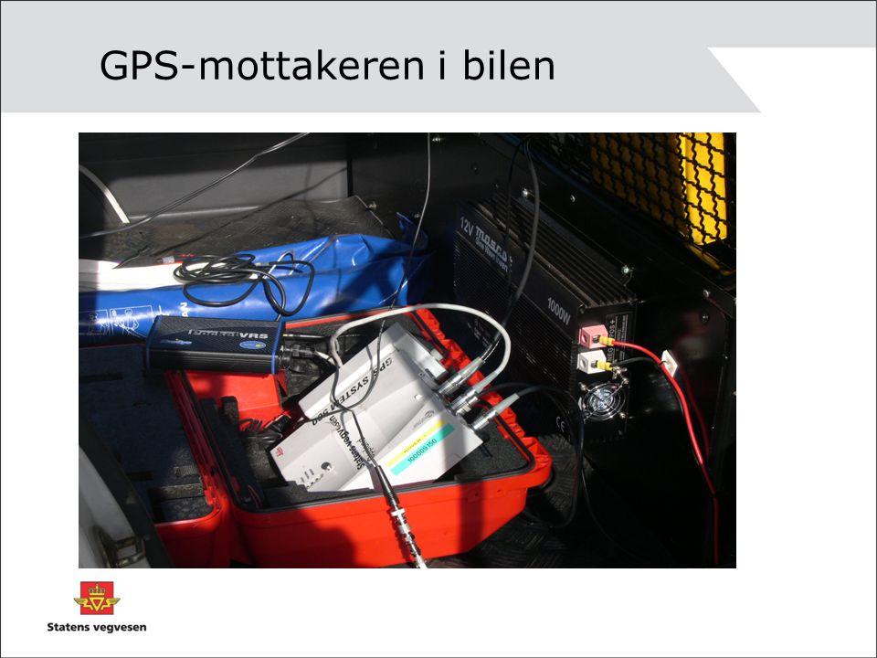 GPS-mottakeren i bilen