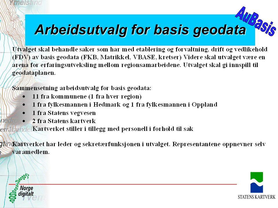 Arbeidsutvalg for basis geodata