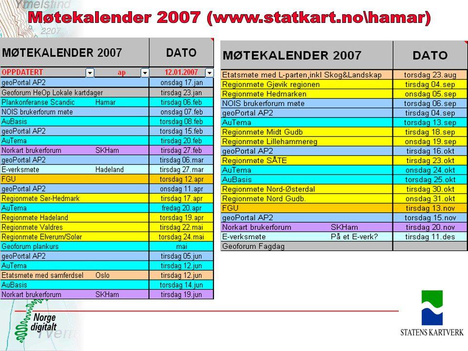 Møtekalender 2007 (www.statkart.no\hamar)
