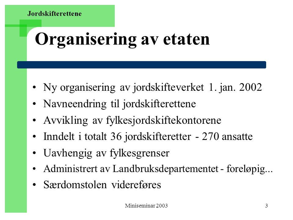 Organisering av etaten