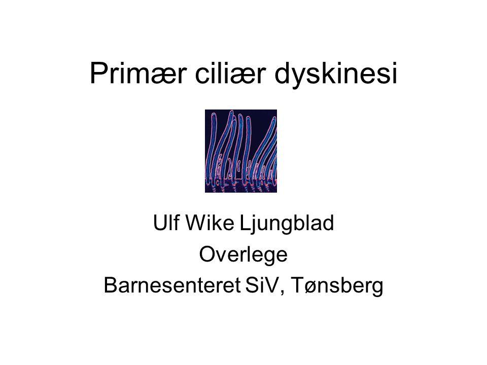 Primær ciliær dyskinesi