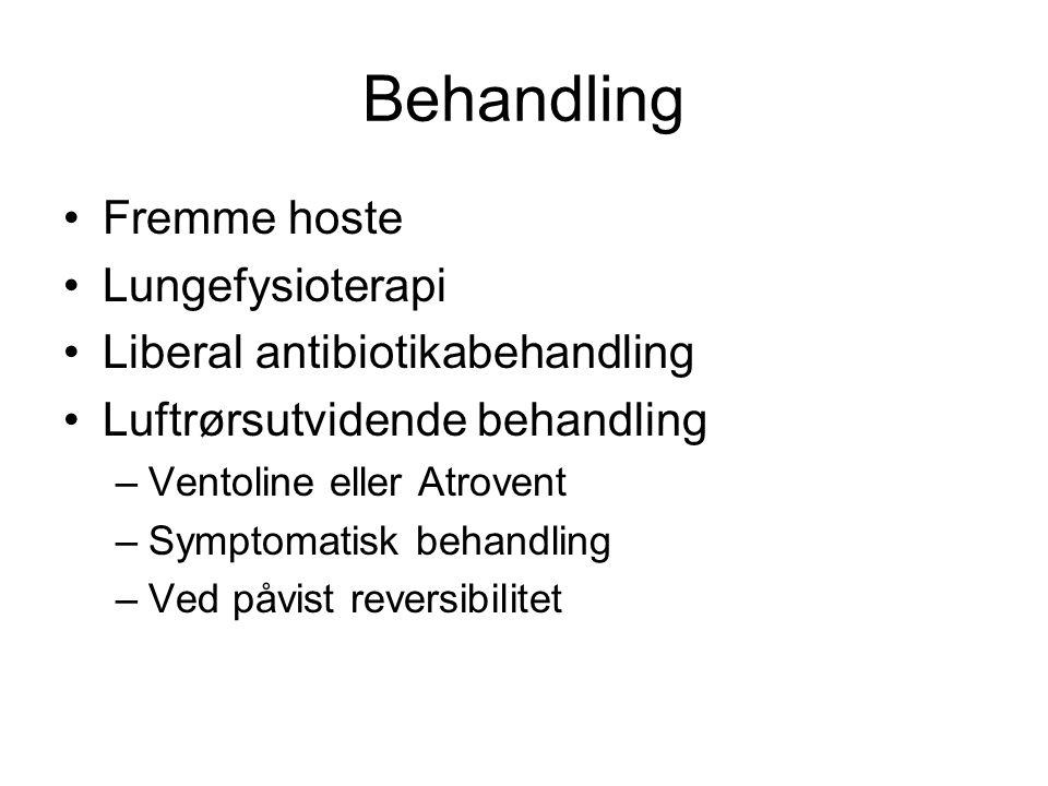 Behandling Fremme hoste Lungefysioterapi Liberal antibiotikabehandling