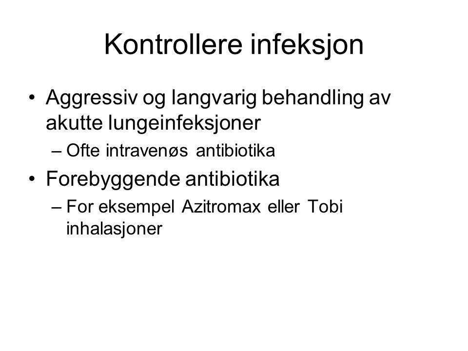 Kontrollere infeksjon