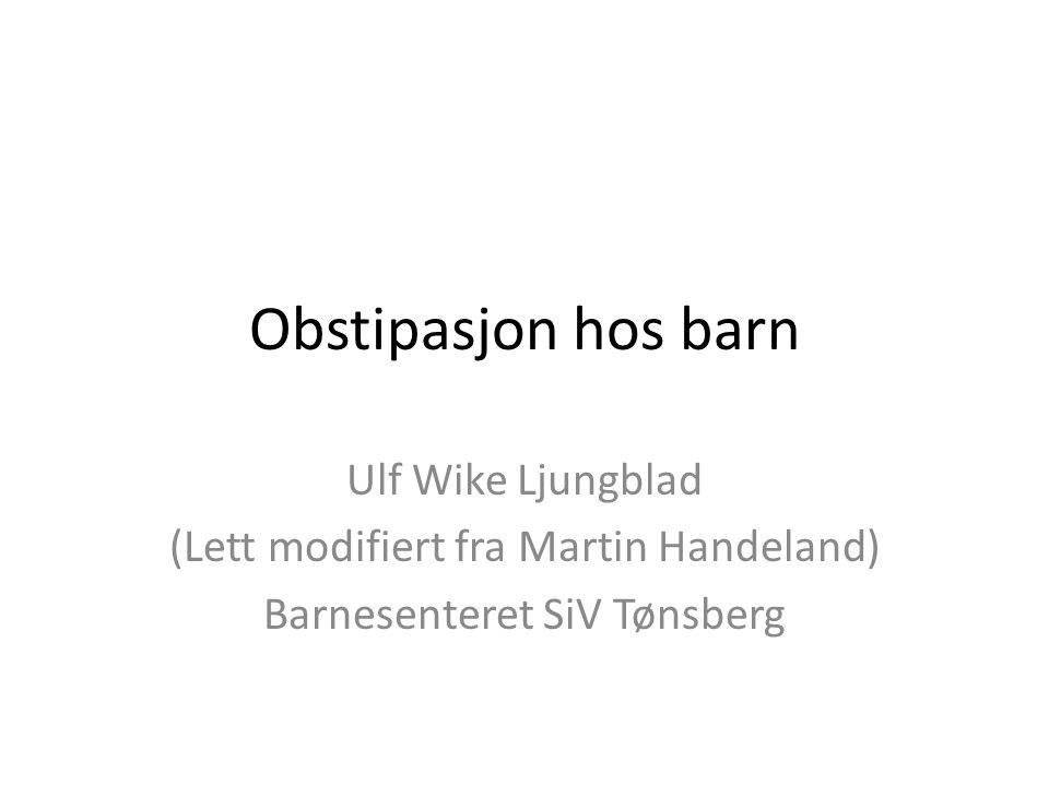 Obstipasjon hos barn Ulf Wike Ljungblad