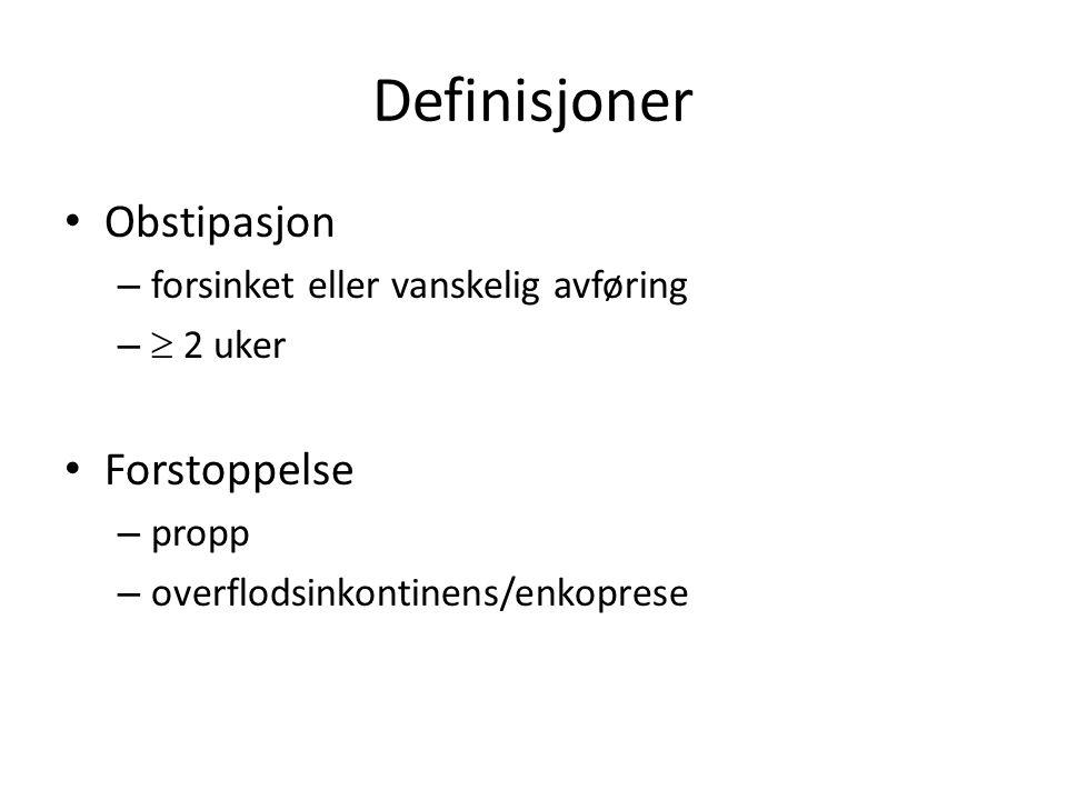 Definisjoner Obstipasjon Forstoppelse