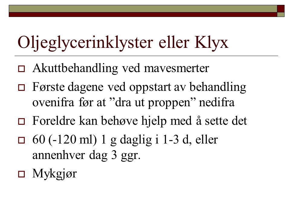 Oljeglycerinklyster eller Klyx