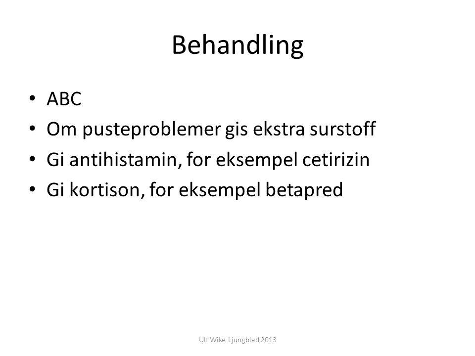 Behandling ABC Om pusteproblemer gis ekstra surstoff