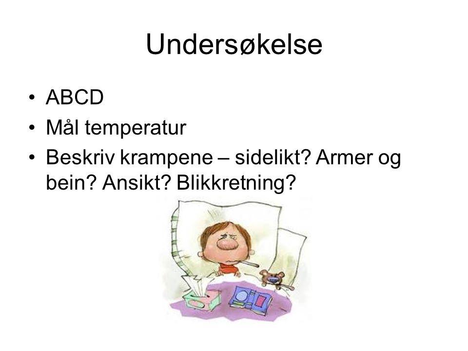 Undersøkelse ABCD Mål temperatur