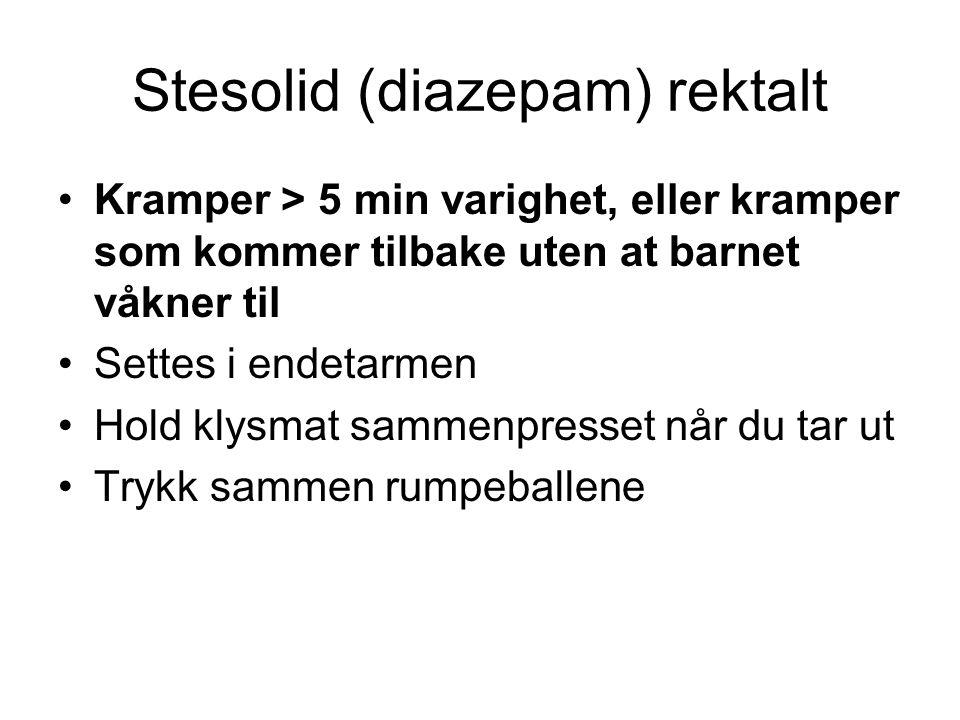 Stesolid (diazepam) rektalt