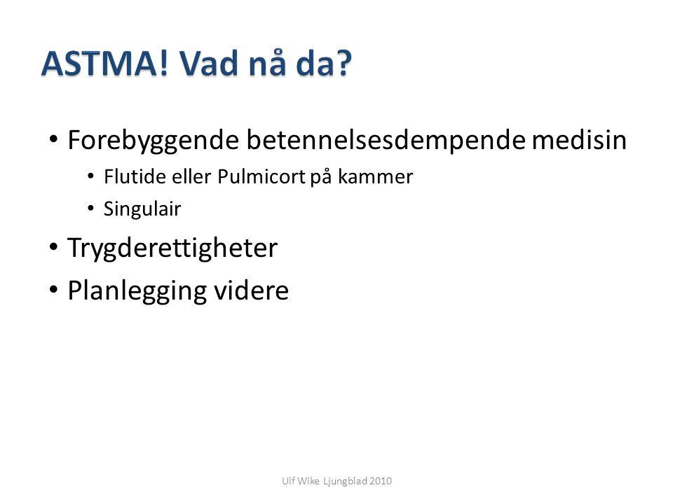 ASTMA! Vad nå da Forebyggende betennelsesdempende medisin