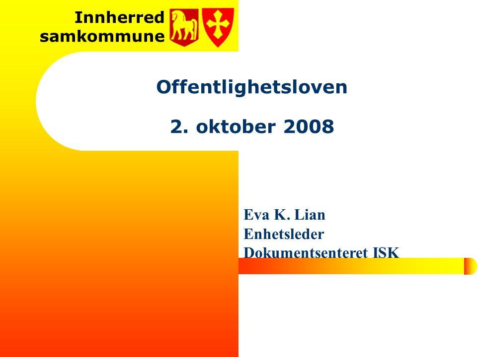 Offentlighetsloven 2. oktober 2008