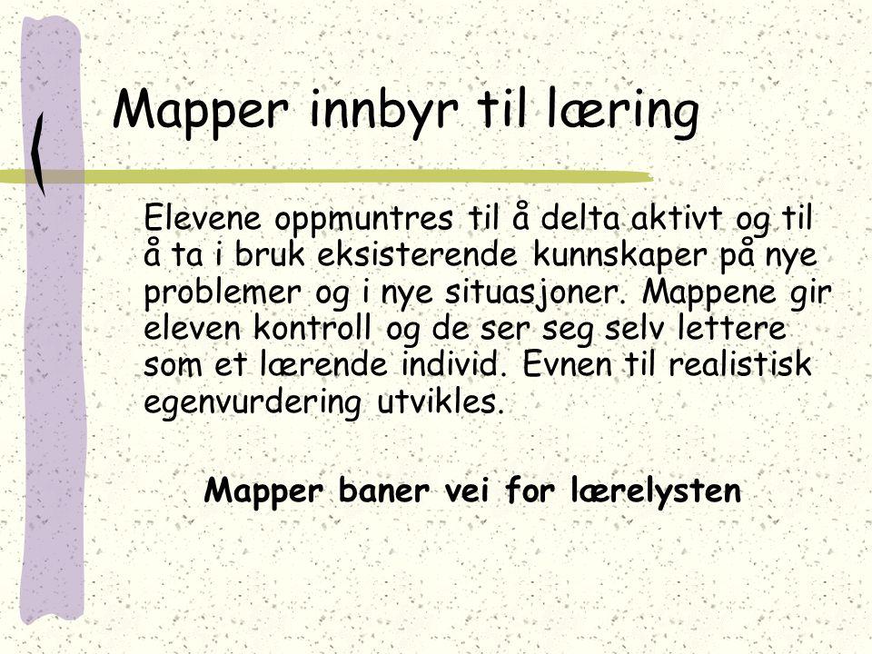 Mapper innbyr til læring