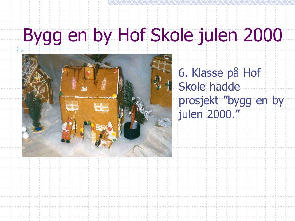 Bygg en by Hof Skole julen 2000