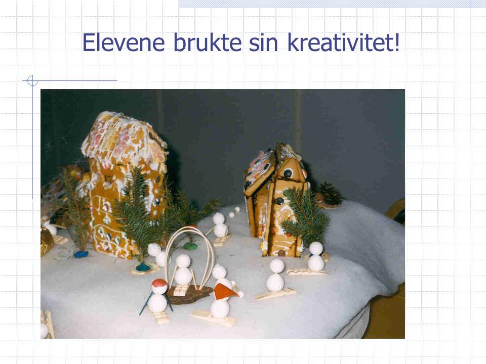 Elevene brukte sin kreativitet!
