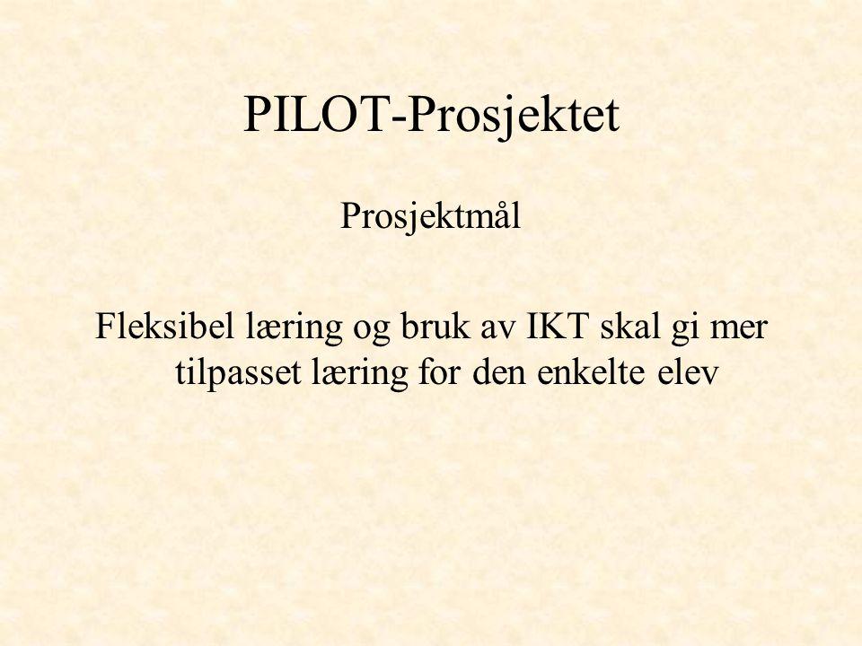 PILOT-Prosjektet Prosjektmål