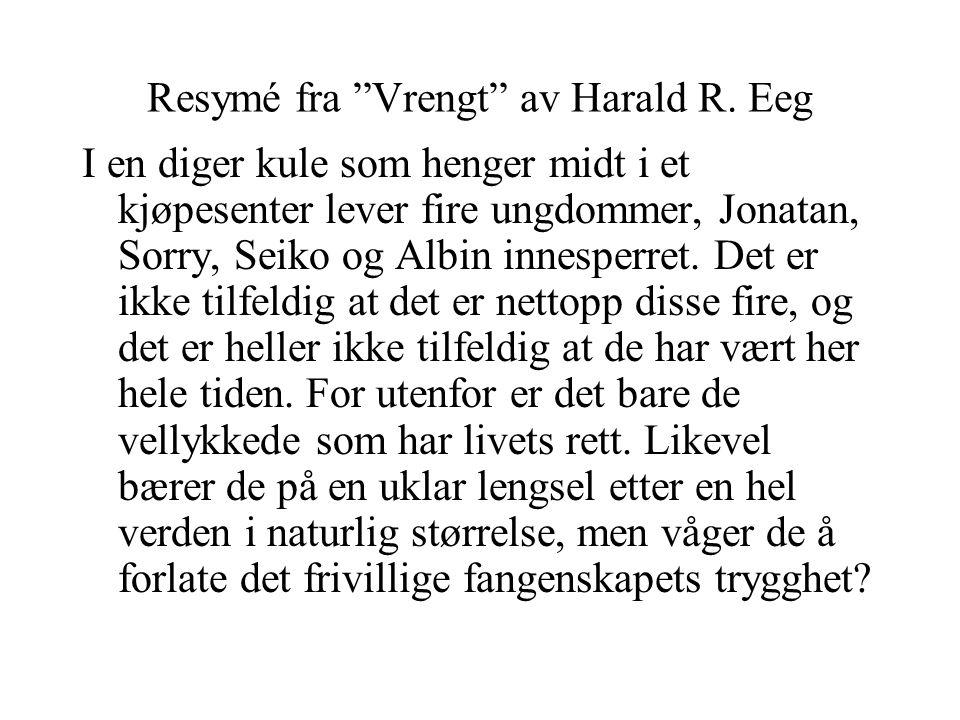 Resymé fra Vrengt av Harald R. Eeg