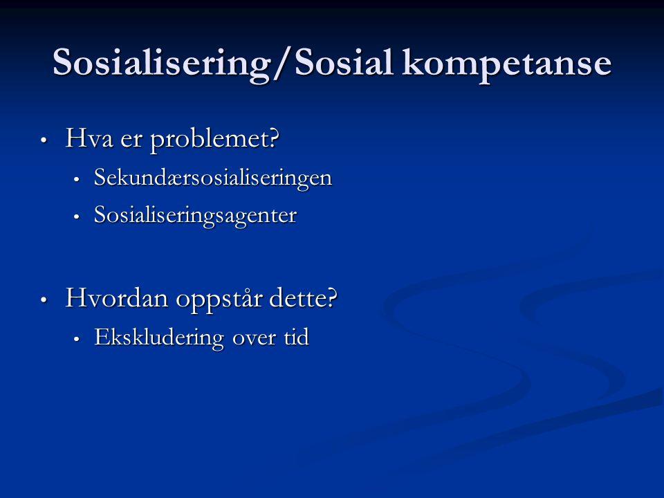 Sosialisering/Sosial kompetanse