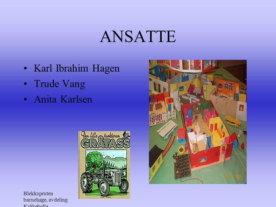 ANSATTE Karl Ibrahim Hagen Trude Vang Anita Karlsen
