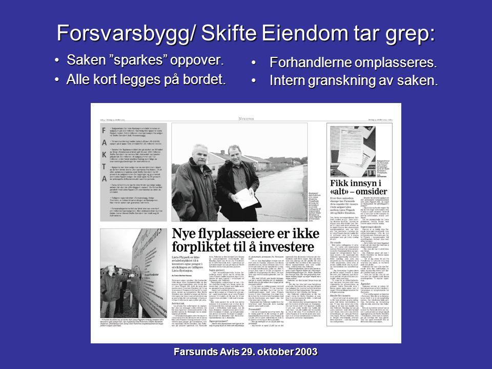 Forsvarsbygg/ Skifte Eiendom tar grep: