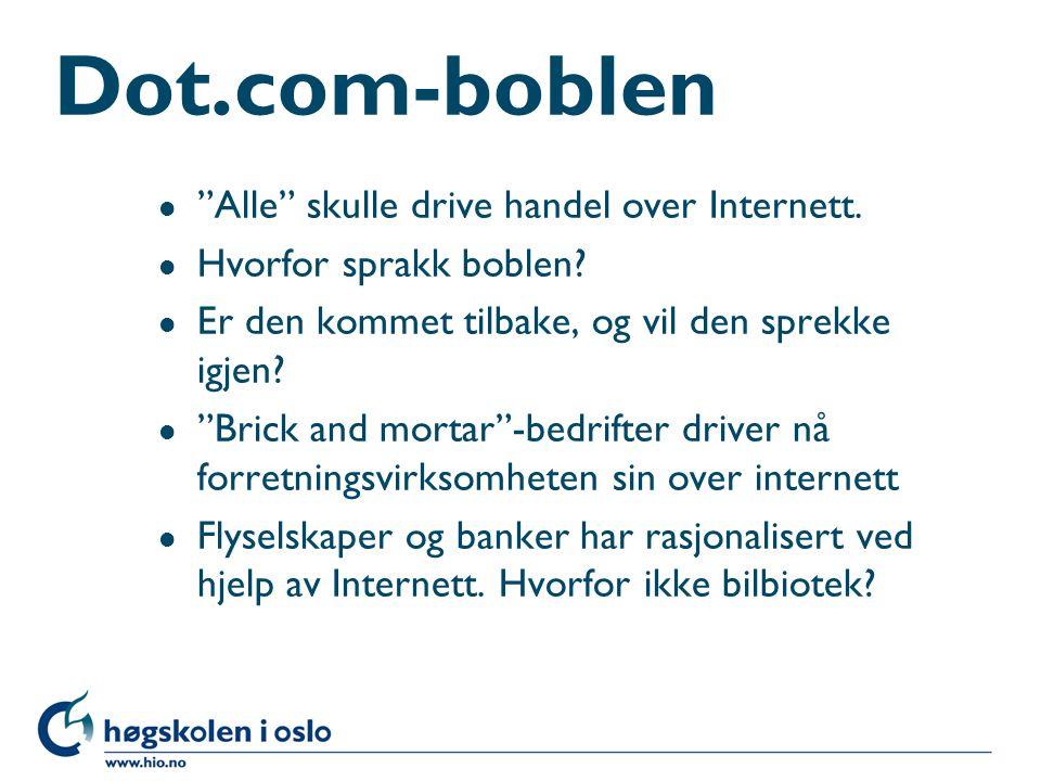 Dot.com-boblen Alle skulle drive handel over Internett.