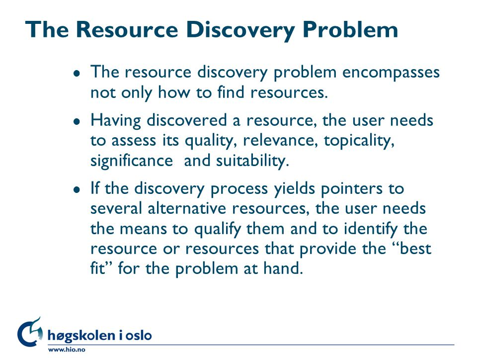 The Resource Discovery Problem