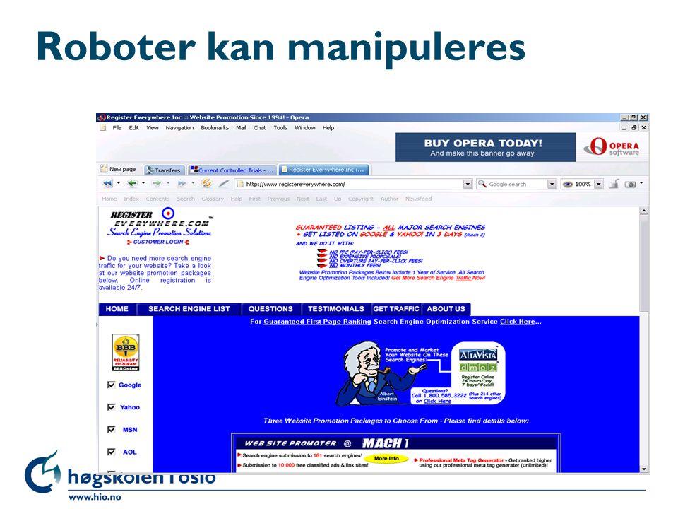 Roboter kan manipuleres