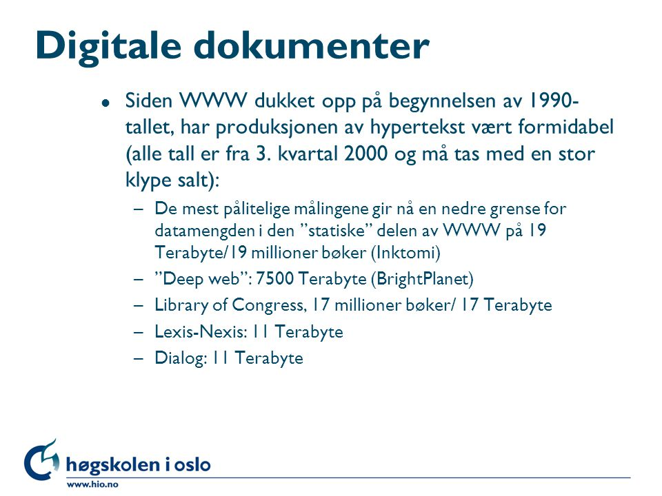 Digitale dokumenter