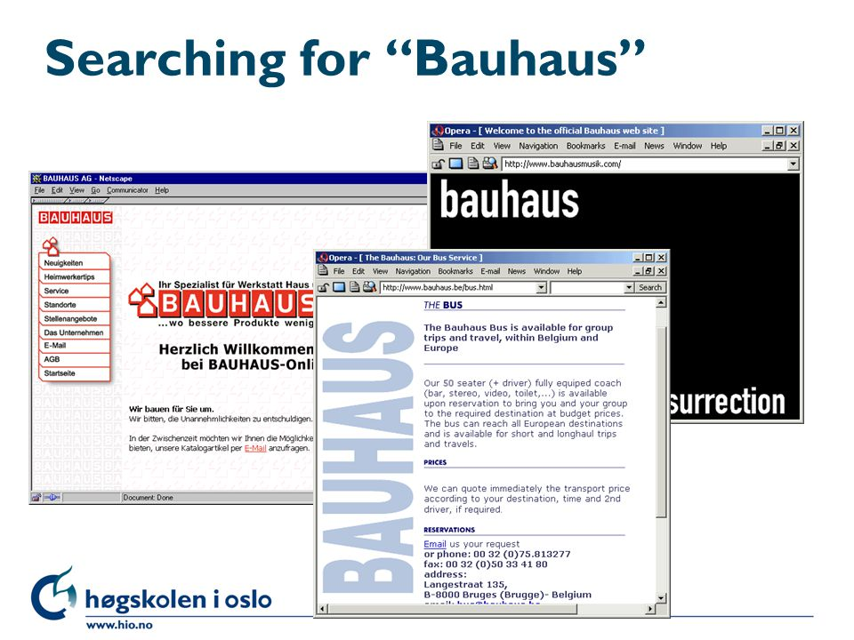 Searching for Bauhaus