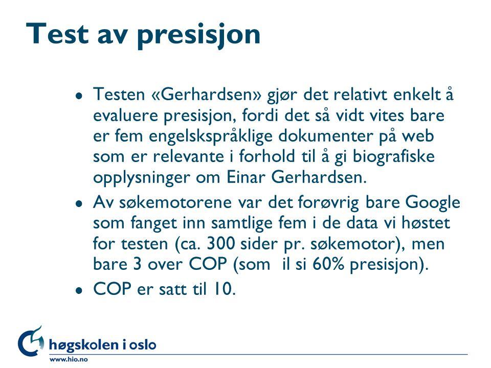Test av presisjon