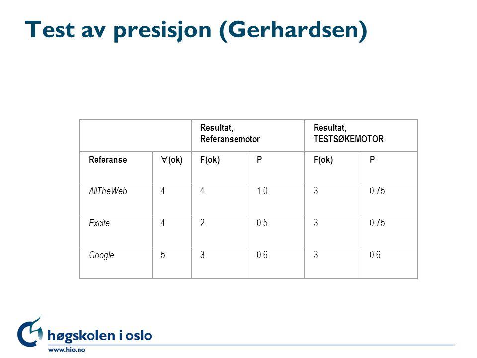Test av presisjon (Gerhardsen)