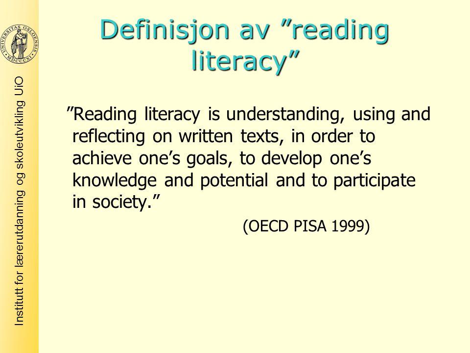 Definisjon av reading literacy
