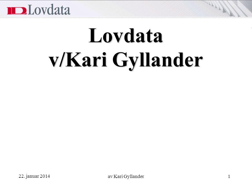 Lovdata v/Kari Gyllander