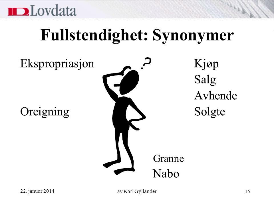 Fullstendighet: Synonymer