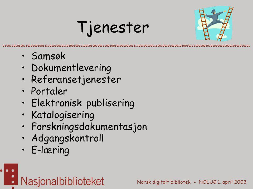 Tjenester Samsøk Dokumentlevering Referansetjenester Portaler