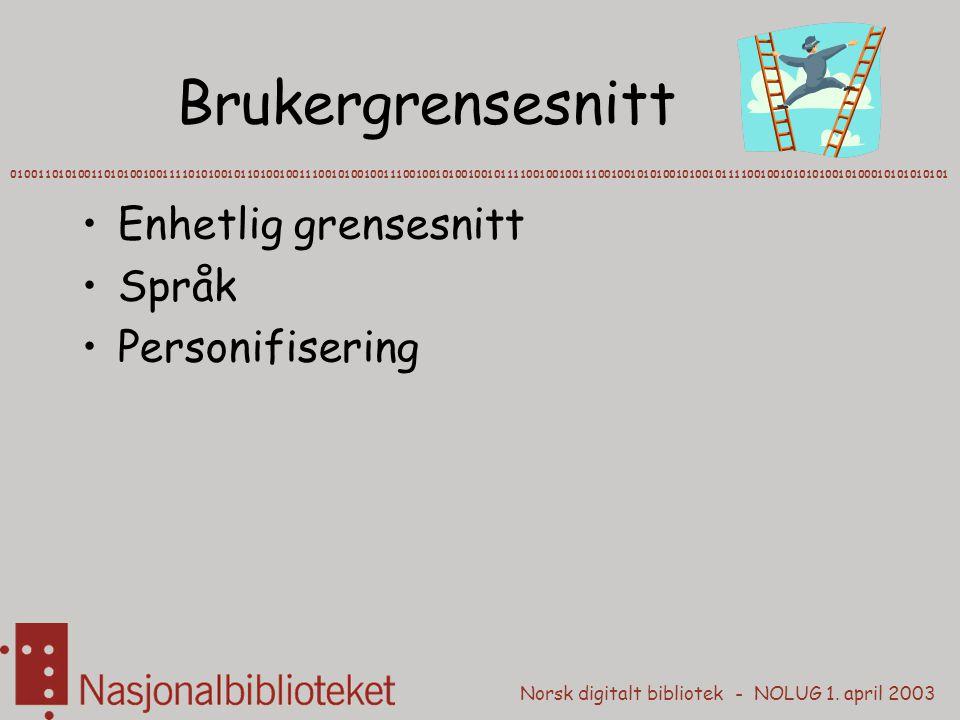 Brukergrensesnitt Enhetlig grensesnitt Språk Personifisering